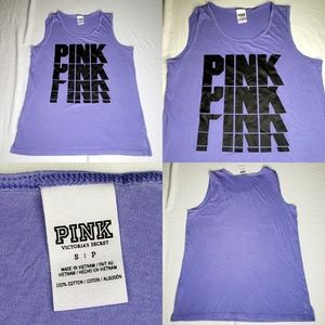 Pink Victoria Secret purple black Muscle Tank Top